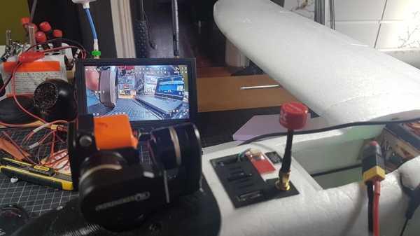 Daldırma Rc Tramp Hv Vtx + Kanat İçin Anten Tutucu (Mini Talon) Plastik Aparat