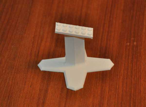 LEGO X-Wing 75102 için ekran standı  Organik Plastikten