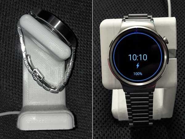 Yuvarlak Huawei Saat Şarj Standı  Tutucu Masaüstü Aparatı Askısı