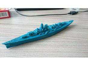 Savaş Gemisi Bismarck 1: 1000  Biblo Dekoratif Hediyelik Maket