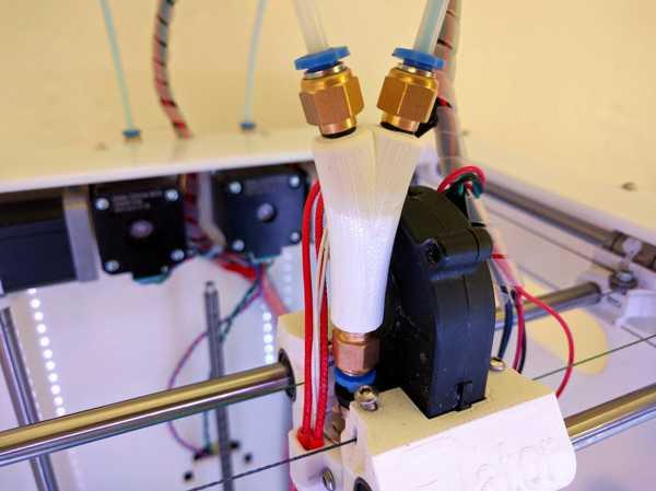 Tek nozullu çift ekstrüzyon için 3Dator Y-parçası  Aparat