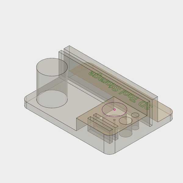3D Yazıcı Aracı Depolama Plastik Aparat