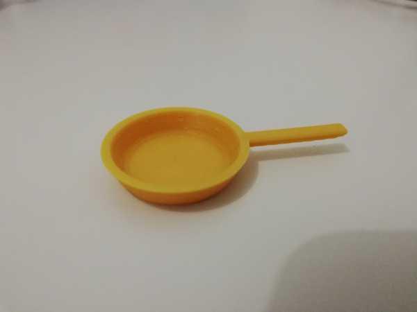 Bebek Evi Kızartma Tavası - Yemek Pişirme ve Mutfak Oyuncakları / Çocuklar İçin Minyatürler
