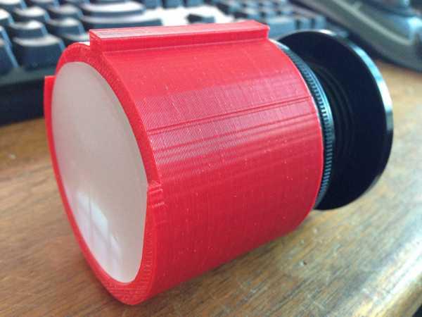 Nikon F-Mount to Ground Glass Adaptörü Organik Plastikten