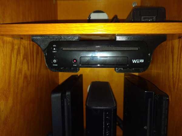 Wii U alt destek braketi   Askı Aparatı Organik Plastikten