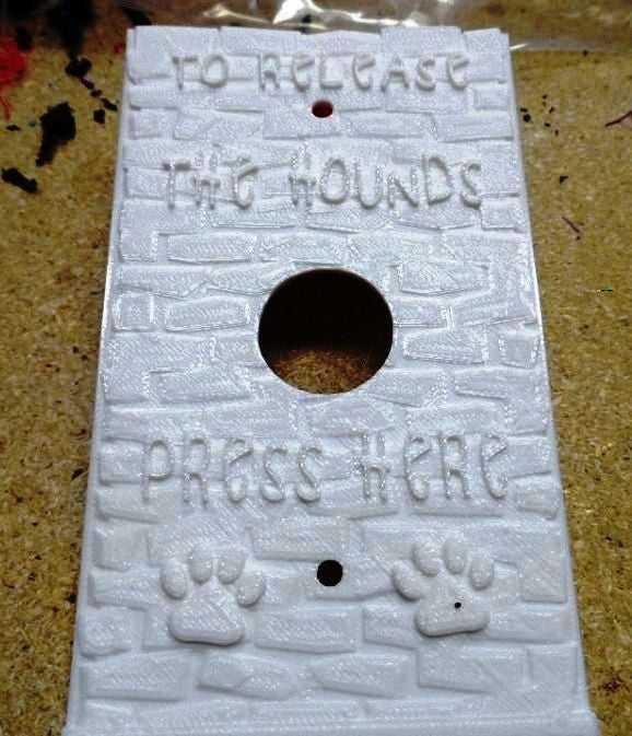 Köpek Sahibi Kapı Zili Tabağı/  Zil Çerçevesi Dekoratif Aksesuar