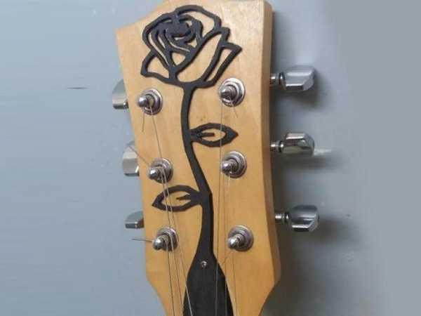 Gitar Gül Başlığı Dekoratif Organik Plastikten Aksesuar
