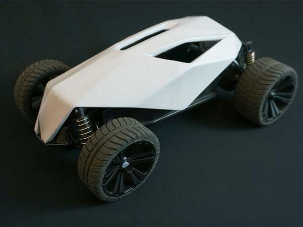 Oyuncak RC Araba Yeniden Tasarımı - Kafatası Gövdesi  Aparat