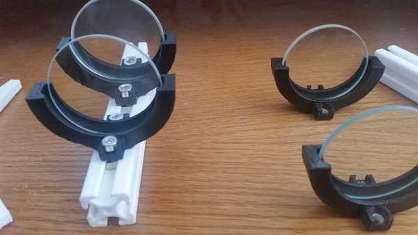 50 mm lensler için bağımsız veya T yuvalı lens tutucu  Aparat