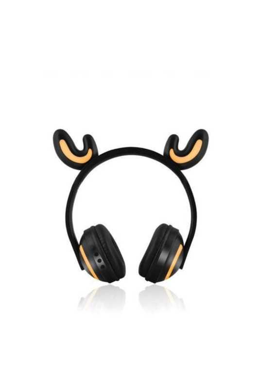 Bluetooth Kedi Kulaklık 7 Farklı Renk Işık AUX Şarjlı Yüksek Ses