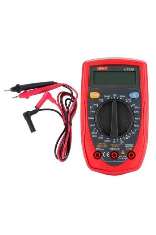 Uni-t Ut33d Dijital Multimetre NVC Gerilim Akım Direnç Test Cihaz