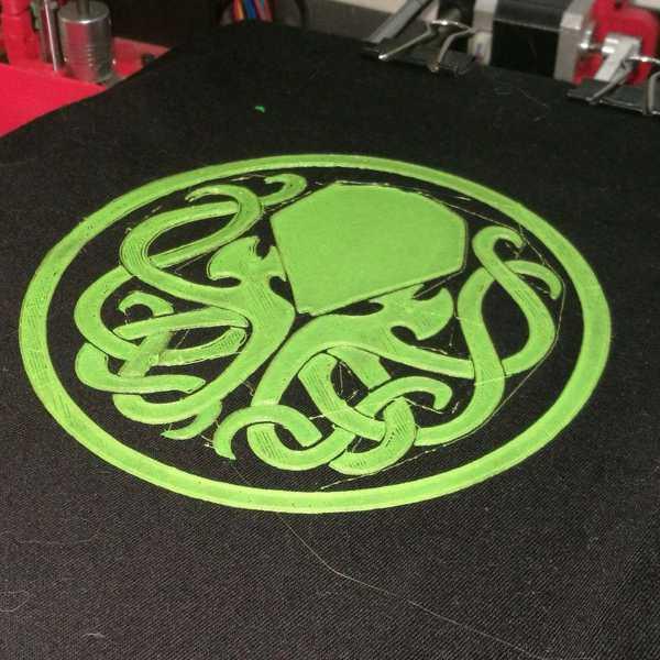 Cthulhu - T-Shirt Baskı - Flex Filament Dekoratif Aksesuar Aparat