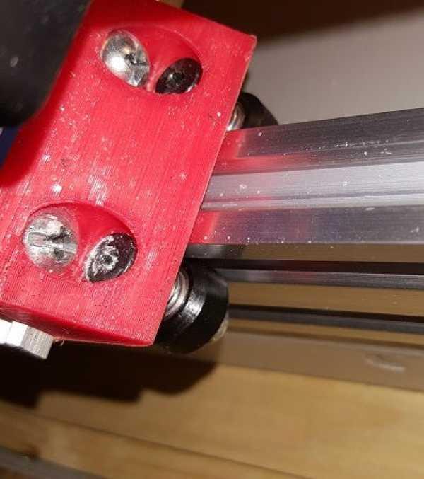 20mm Openbuilds mini V-Tekerlek braketi  Organik Plastikten