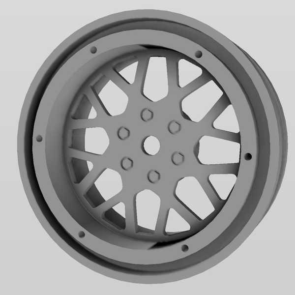 SCX10 XD Style için Beadlock Wheel 1.9  Dekoratif Tekerlek