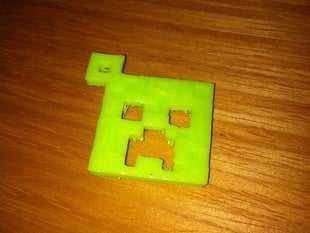 Creeper Anahtarlık  Organik Plastikten Dekoratif Sevgiliye Hediye