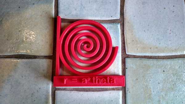 Günlük Denklem # 3 - Spiral r = a * teta Dekoratif Aksesuar