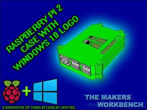 Windows 10 Logolu Raspberry Pi 2 Kılıf Plastik Aparat