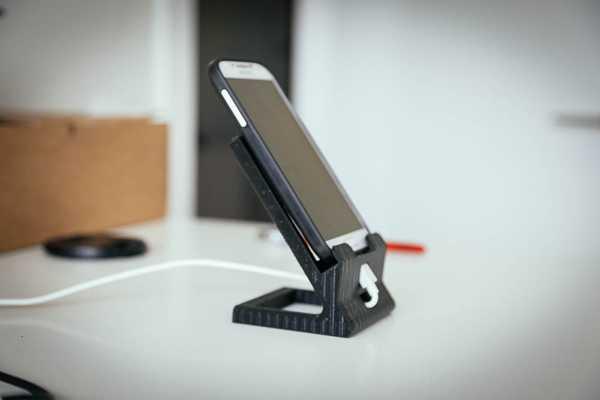 Toptan Cep Telefon tutucu Masaüstü Çalışma Masası Kablo Koruyuculu