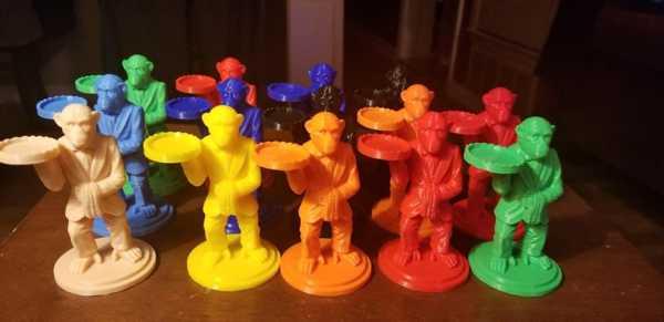 Toptan Maymun Butler Halkası Tutucu - Bölünmüş Dosya W / Destekler * Yeni Temel Plastik Aparat