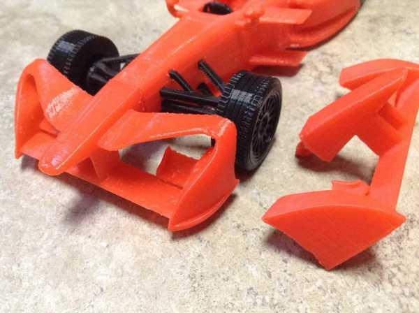 Formula E Yarış Arabası için 3. Sezon Ön Kanat Organik Plastikten