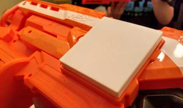 Nerf Demolisher uzatılmış pil kapağı  Organik Plastikten