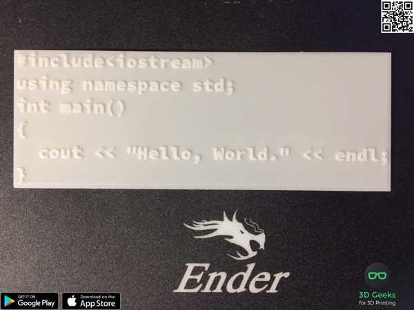 Merhaba Dünya C ++ Biblo Dekoratif Hediyelik Süs Eşyası Maket