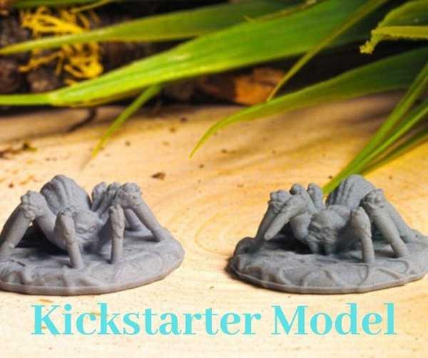 Desteksiz Örümcek Kickstarter Test Modeli Aksesuar Aparatı