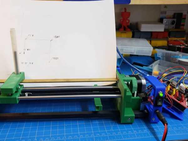 A4 Pen Plotter - Ek Parçalar (Servo) Plastik Aparat