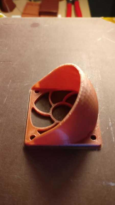 40mm hotend soğutma fanı için kanal koruyucu koruyucu Aparat