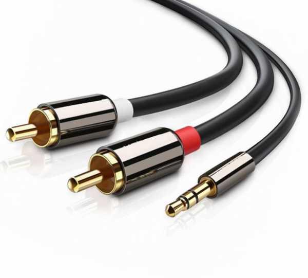 3.5mm Erkek 2 RCA Erkek Stereo Ses Kablosu  RCA Ses Video Kablosu