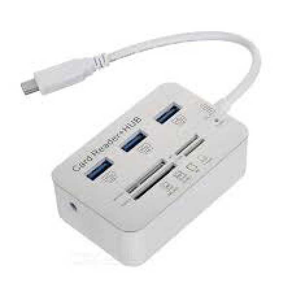 3.0 PORT 3 USB HUB Card Reader Kart Okuyucu Type C Kart Çeşitleri