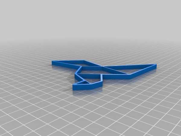 Origami Güvercin Organik Plastikten Dekoratif Hediyelik Biblo
