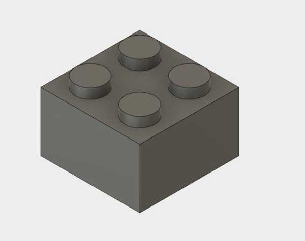 Fusion 360 2X2 Lego Blok Jeneratörü Plastik Aparat