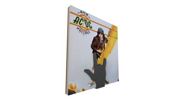 Rock 'n Roll vinil tutucu El Şeklinde Dekoratif Aksesuar