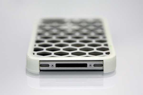 iPhone 4 Kılıfı Izgara Desenli Aparat Hediyelik Süs Aksesuar