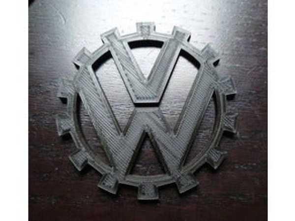 VW LOGOSU - Retro Valkswagen Amblemi Tek Parça Eski Model