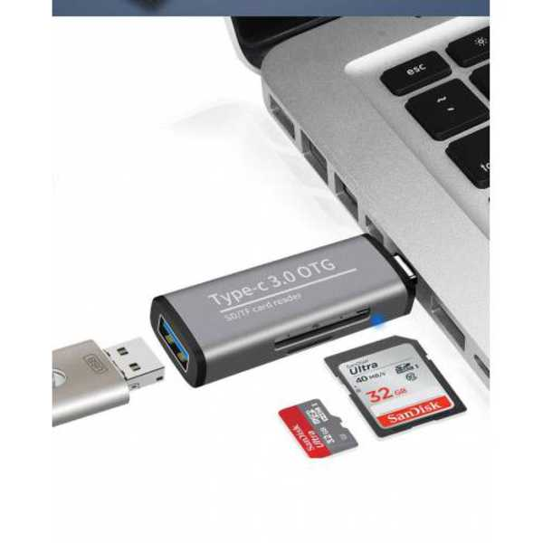 ADS-103 USB 3.0 Type-c TF SD Kart Okuyucusu ENT Card Reader