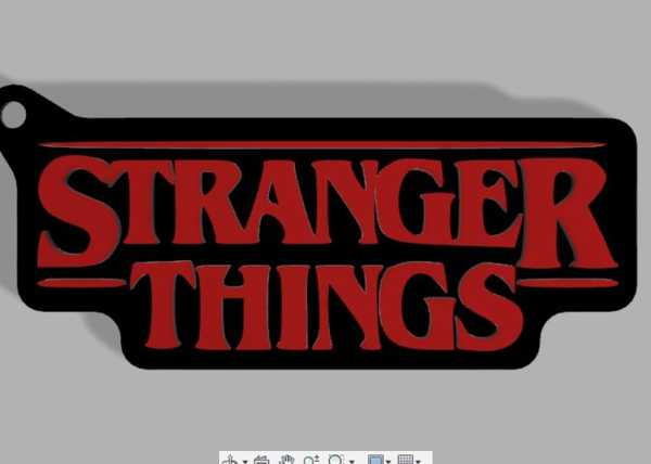 Stranger Things Logosu Anahtarlık Hediyelik Asma Askı Aksesuar Se