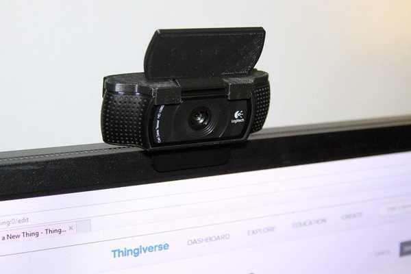 Logitech C920 Web Kamerası Kapağı  Organik Plastikten Aparat