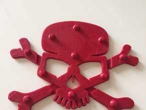 Skull & Bones snowboard pedi  Dekoratif Aksesuar Süs Eşyası