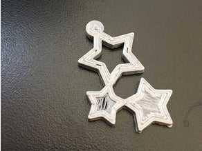 Yıldız Küpe Ucu  Dekoratif Aksesuar Süs Eşyası Hediyelik