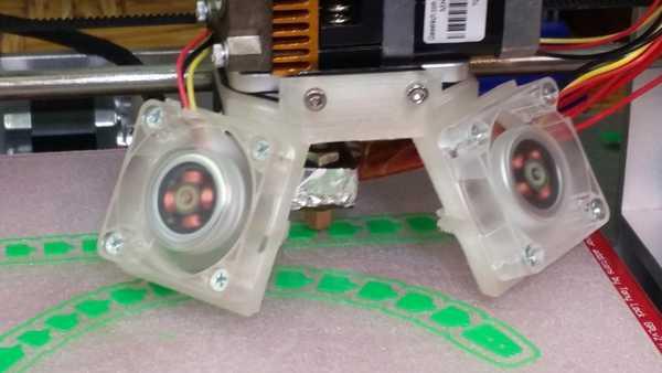 Geeetech MK8 için 50mm Meme Boğazlı Çift Fan Soğutucu  Aparat