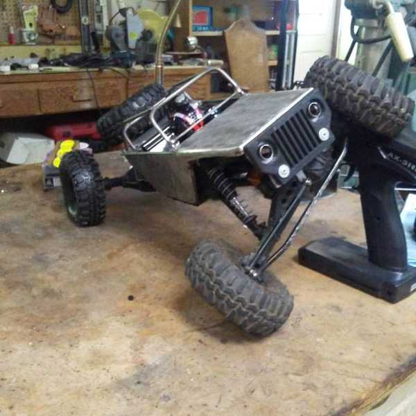 RC Model Araba için ön ızgara  tampon - Jeep Stili Aparatı
