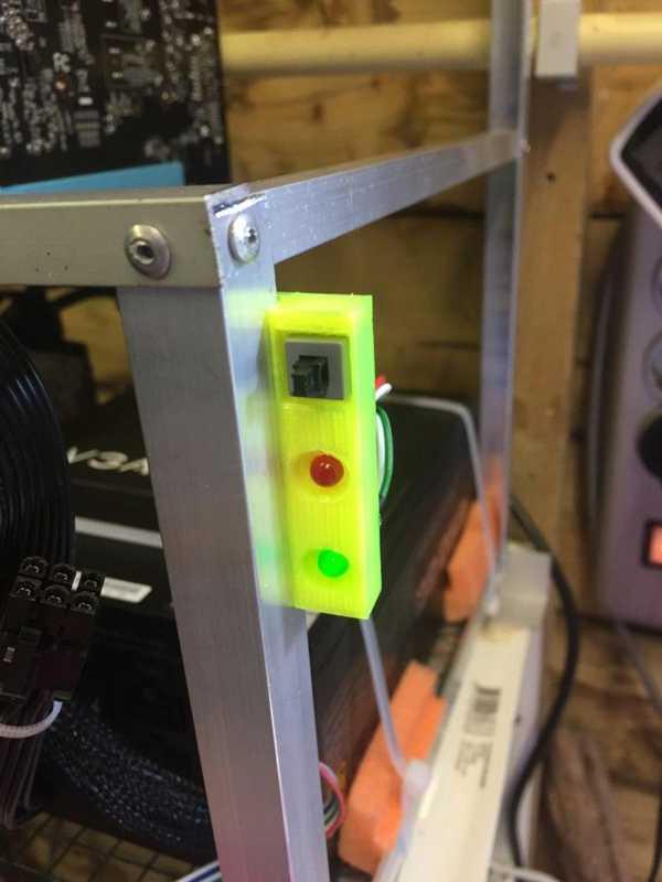Mining Rig mini dash (güç düğmesi, güç ledli, HDD ledli)