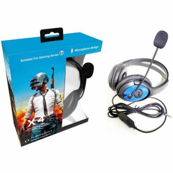 Pubg Oyuncu Mikrofonlu Kablolu Kulaklık X4 Yüksek Ses Kalitesi