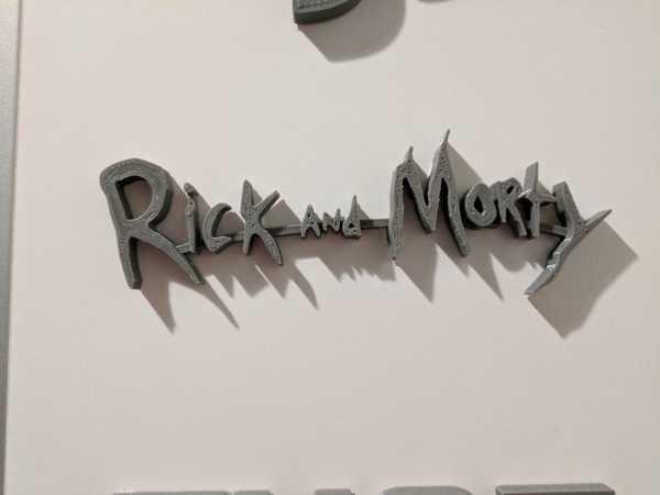 Rick and Morty Logosu Dekoratif Aksesuar Süs Eşyası Yazısı
