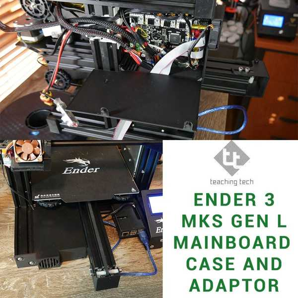 Ender 3 Mks Gen L Adaptörü Kılıfı Ve Tutucu Plastik Aparat