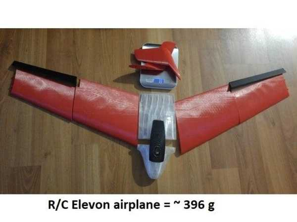 R / C Elevon Uçak Plastik Aparat