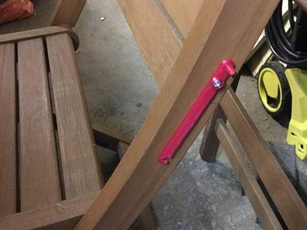 B&Q Katlanır Bahçe Sandalyesi Klipsi  Organik Plastikten