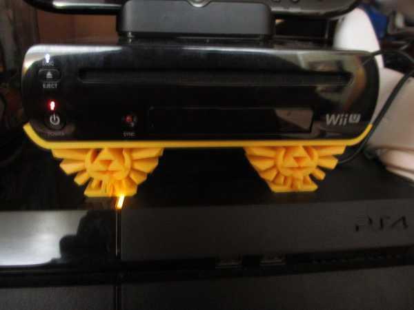 Nintendo Wii U Yatay Stand W / Zelda Hyrule Crest  Aparat